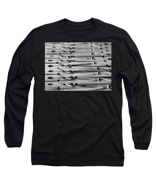 Clothes Pins - Black And White Long Sleeve T-Shirt