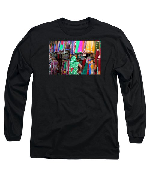 Clothing Shop In Madhavbaug, Mumbai Long Sleeve T-Shirt by Jennifer Mazzucco