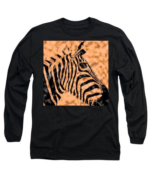 Cloud Face Zebra Long Sleeve T-Shirt by Bartz Johnson