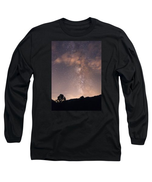 Long Sleeve T-Shirt featuring the photograph Clouds And Milky Way by Wanda Krack