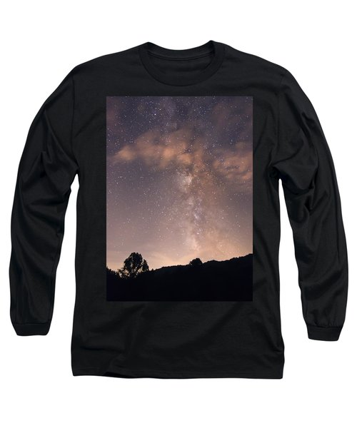 Clouds And Milky Way Long Sleeve T-Shirt