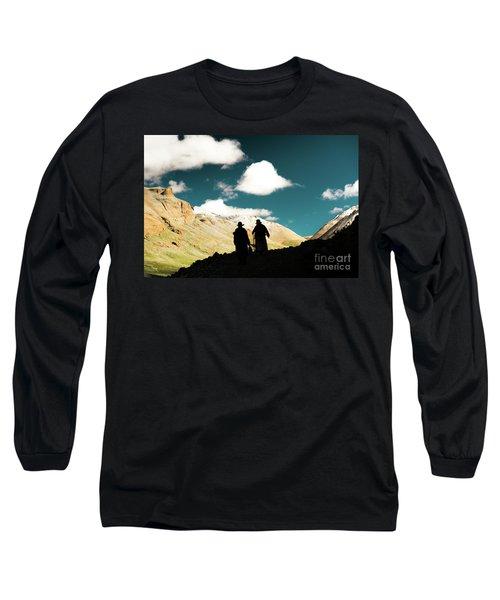 Clouds Way Kailas Kora Himalayas Tibet Yantra.lv Long Sleeve T-Shirt