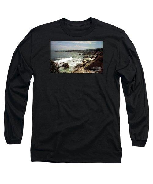 Coastal Waves And Rocks Long Sleeve T-Shirt