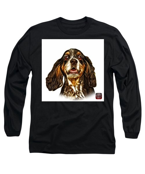 Cocker Spaniel Pop Art - 8249 - Wb Long Sleeve T-Shirt