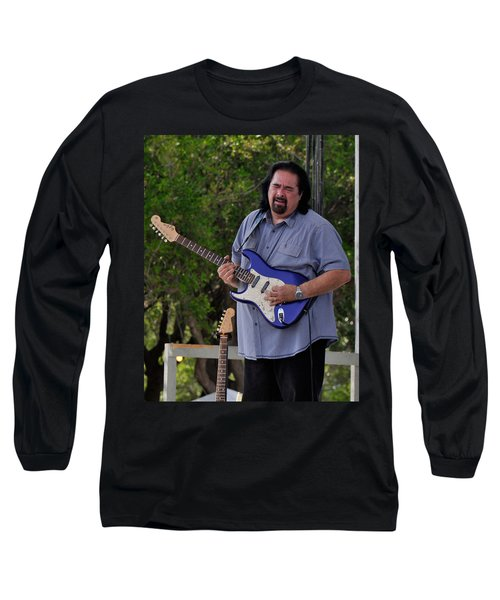Coco Montoya And His Ocean Blue Fender American Standard Stratoc Long Sleeve T-Shirt
