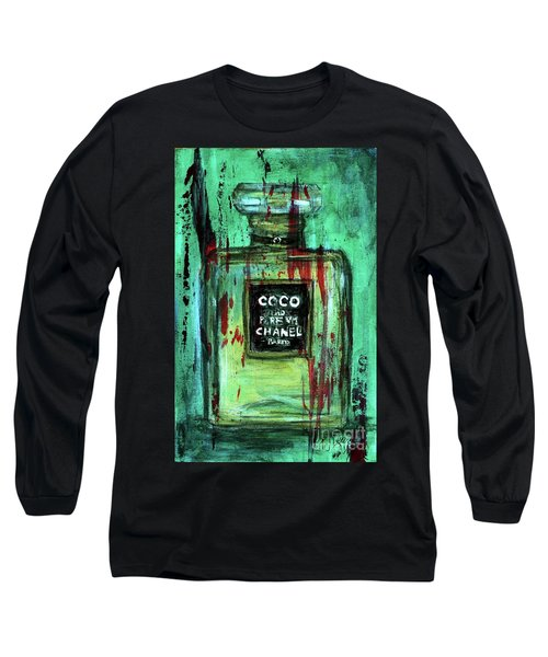 Long Sleeve T-Shirt featuring the painting Coco Potion by P J Lewis