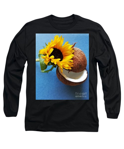 Coconut And Sunflower Harmony Long Sleeve T-Shirt by Jasna Gopic