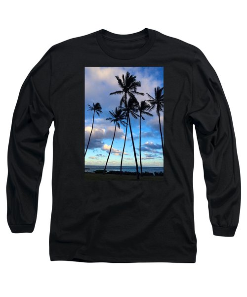 Long Sleeve T-Shirt featuring the photograph Coconut Palms by Brenda Pressnall