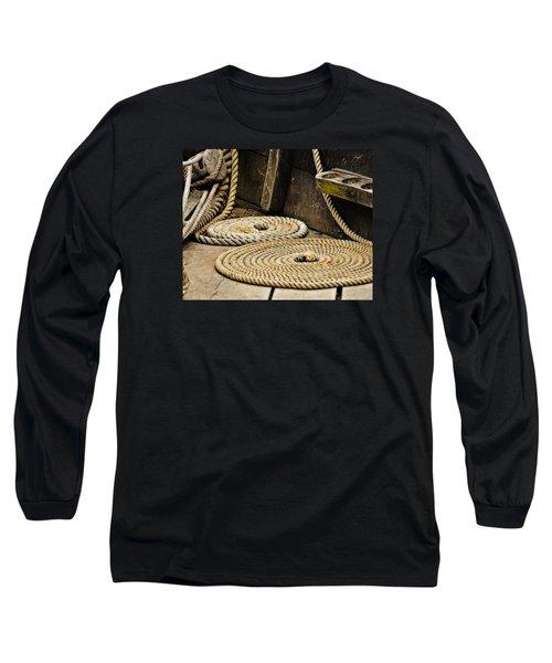 Coiled Rope From Philadelphia II Gunboat Long Sleeve T-Shirt by Rena Trepanier
