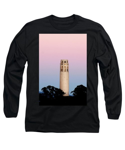Coit Tower At Sunset Long Sleeve T-Shirt