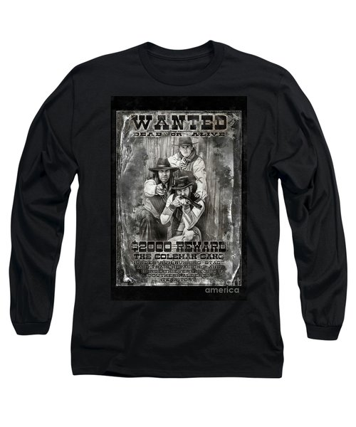 Coleman Gang Wanted Poster Long Sleeve T-Shirt