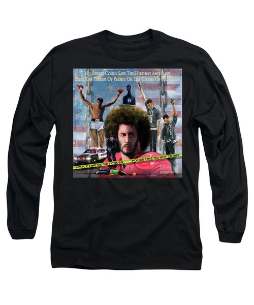 Colin Kaepernick Amongst The Brave Few 2a Long Sleeve T-Shirt