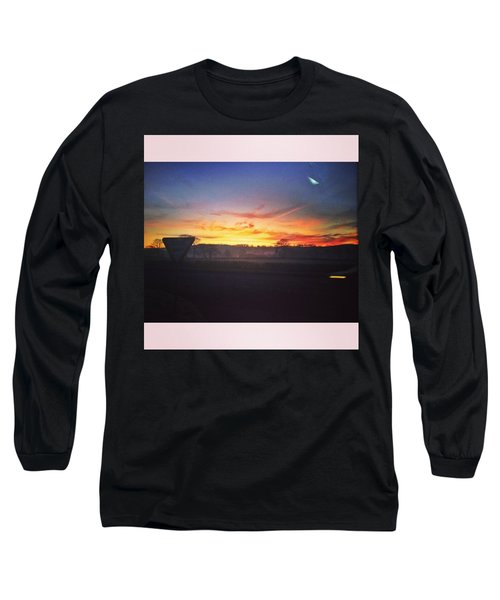 College Bus.  #sunrise #sun #wales Long Sleeve T-Shirt