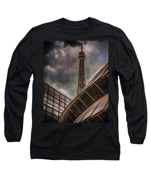 Paris, France - Colliding Grids Long Sleeve T-Shirt