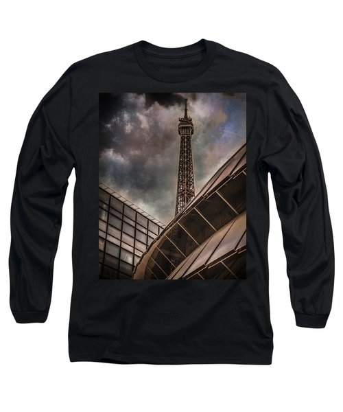 Paris, France - Colliding Grids Long Sleeve T-Shirt