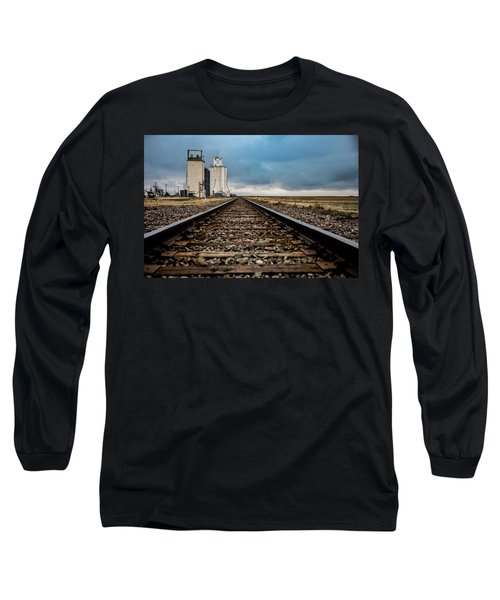 Long Sleeve T-Shirt featuring the photograph Collyer Tracks by Darren White