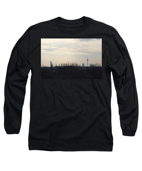 Cologne Skyline  Long Sleeve T-Shirt by Michael Paszek
