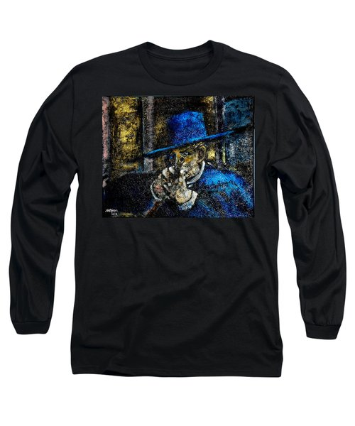 Long Sleeve T-Shirt featuring the painting Colonel Mortimer's Shot by Seth Weaver