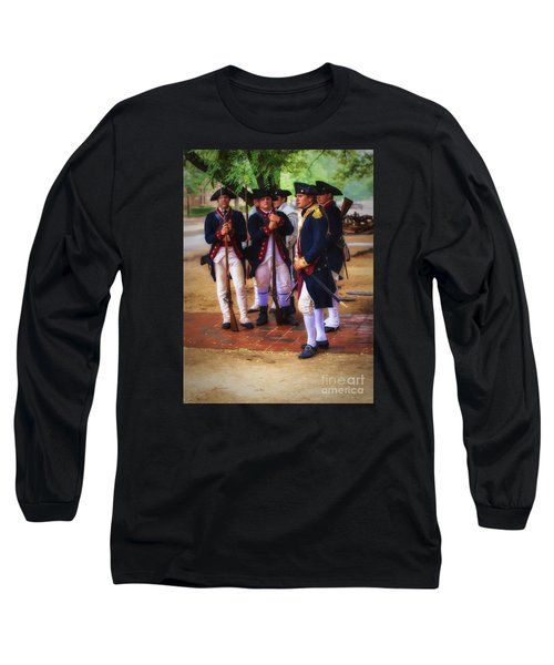 Long Sleeve T-Shirt featuring the photograph Colonial Army  ... by Chuck Caramella
