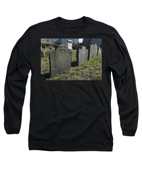 Long Sleeve T-Shirt featuring the photograph Colonial Graves At Phipps Street by Wayne Marshall Chase