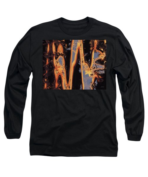 Color Abstraction Xli Long Sleeve T-Shirt by David Gordon