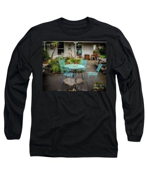 Long Sleeve T-Shirt featuring the photograph Color At Cafe by Perry Webster