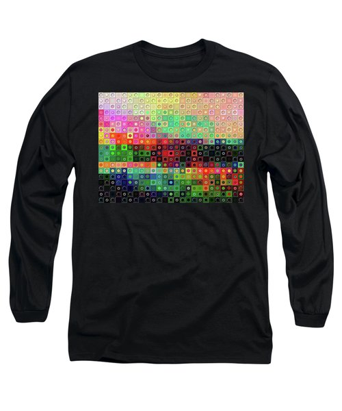 Long Sleeve T-Shirt featuring the digital art Color Coded by Wendy J St Christopher