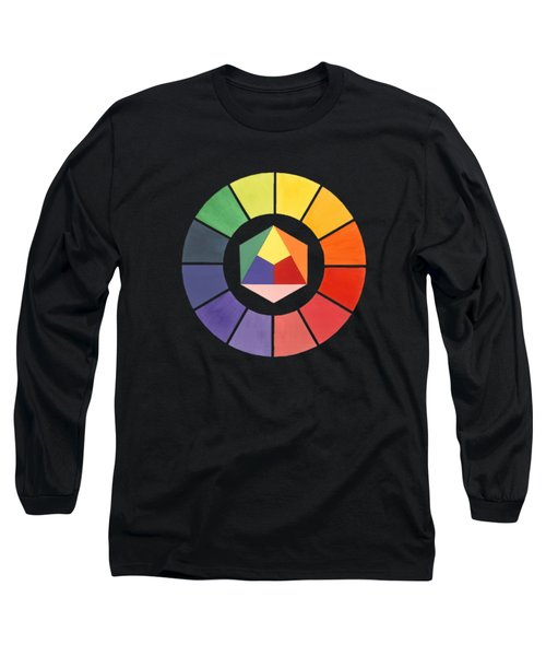 Color Wheel Long Sleeve T-Shirt by Julio Lopez