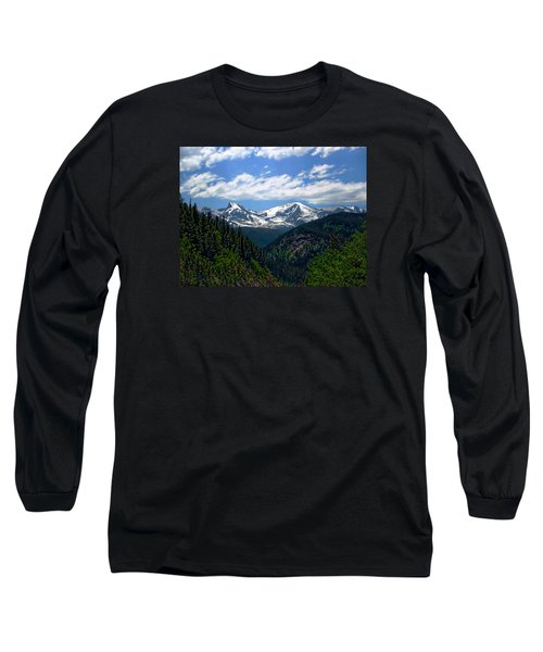 Colorado Rocky Mountains Long Sleeve T-Shirt by Anthony Dezenzio