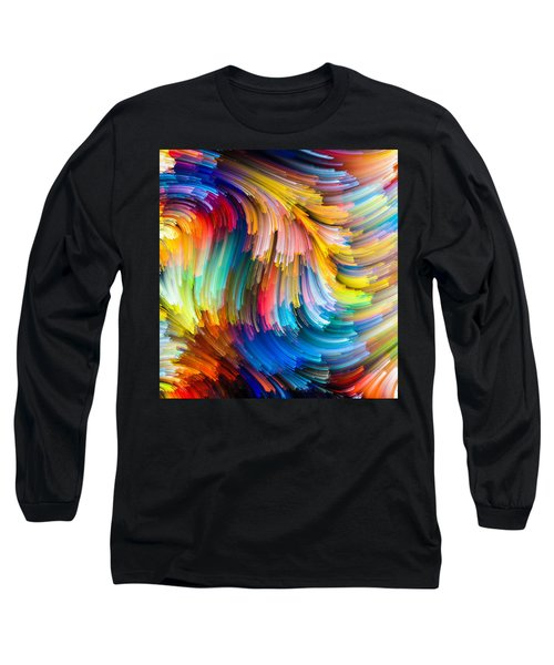 Colorful Beauty Long Sleeve T-Shirt by Karen Showell