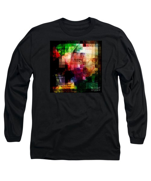 Long Sleeve T-Shirt featuring the photograph Colorful Currency Collage by Phil Perkins