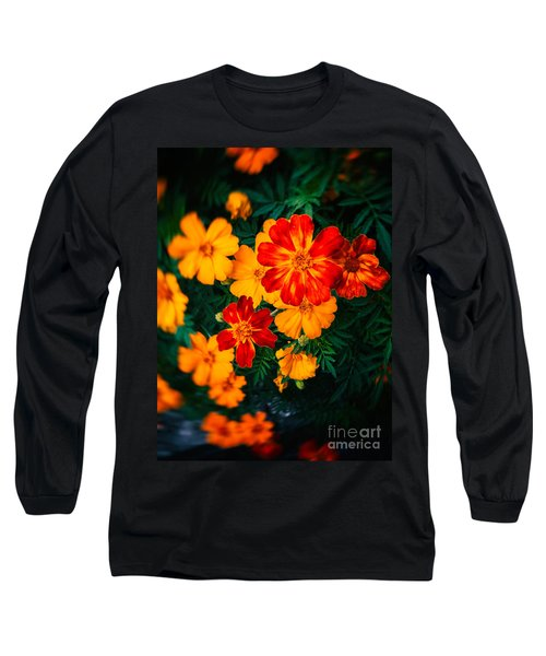 Long Sleeve T-Shirt featuring the photograph Colorful Flowers by Silvia Ganora