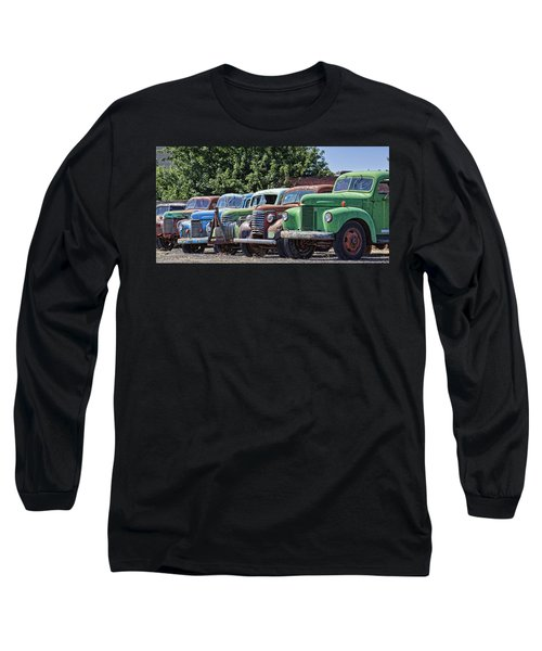 Colorful Old Rusty Cars Long Sleeve T-Shirt