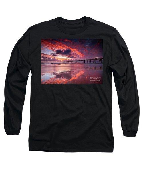 Colorful Sunrise Long Sleeve T-Shirt by Rod Jellison