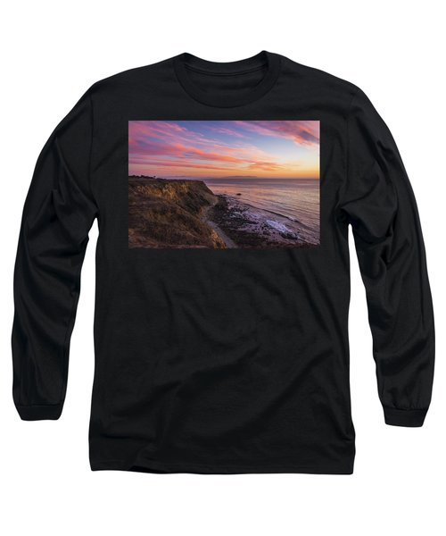 Colorful Sunset At Golden Cove Long Sleeve T-Shirt