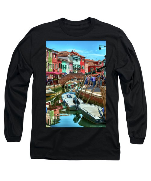 Colorful View In Burano Long Sleeve T-Shirt