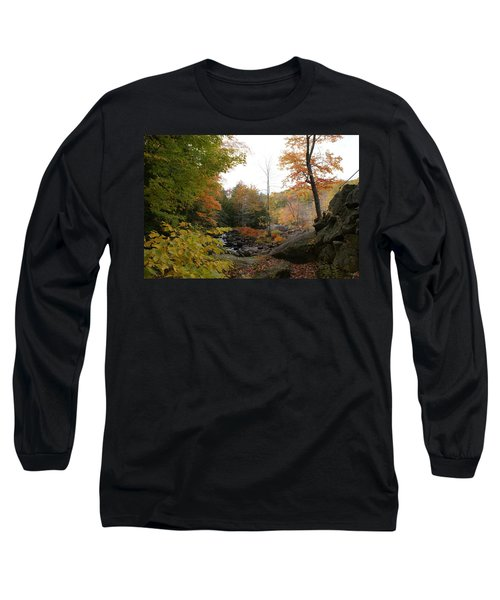 Colors Along The Stream Long Sleeve T-Shirt by Lois Lepisto