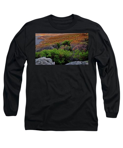 Long Sleeve T-Shirt featuring the photograph Colours Of North Head by Miroslava Jurcik