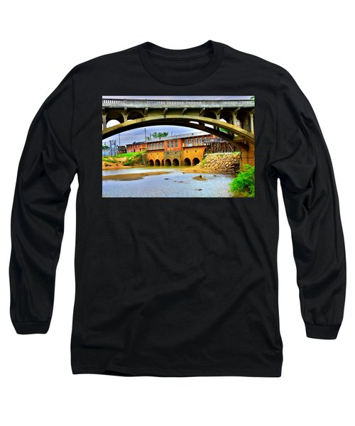 Columbia Canal At Gervais Street Bridge Long Sleeve T-Shirt