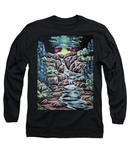 Long Sleeve T-Shirt featuring the painting Come Walk With Me 2 by Cheryl Pettigrew