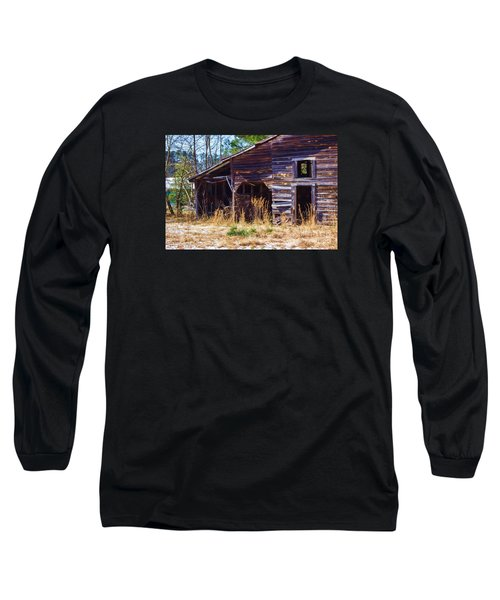 Coming Apart With Character Barn Long Sleeve T-Shirt