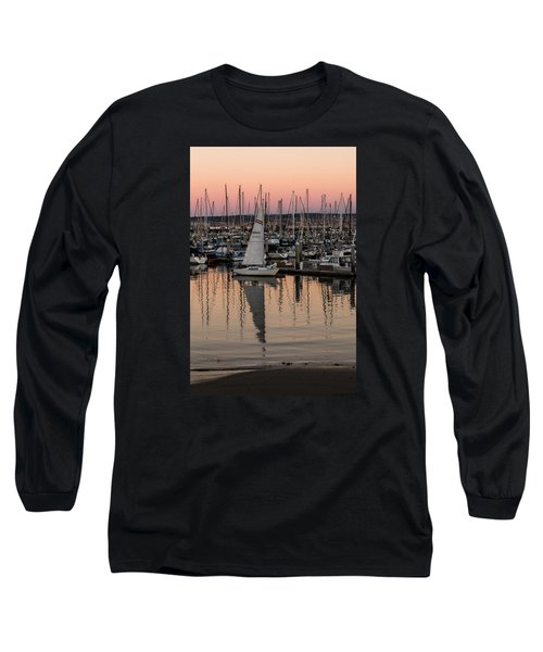 Long Sleeve T-Shirt featuring the photograph Coming Into The Harbor by Lora Lee Chapman