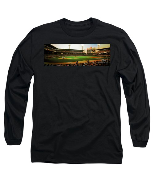 Long Sleeve T-Shirt featuring the photograph Comiskey Park  by Tom Jelen