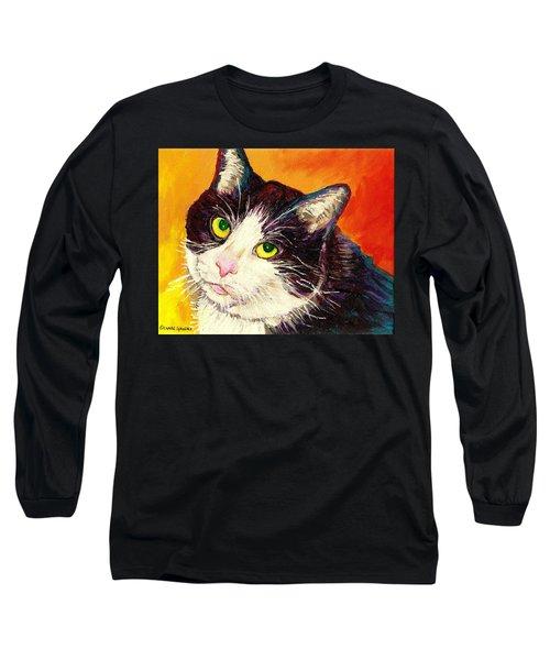 Commission Your Pets Portrait By Artist Carole Spandau Bfa Ecole Des Beaux Arts  Long Sleeve T-Shirt