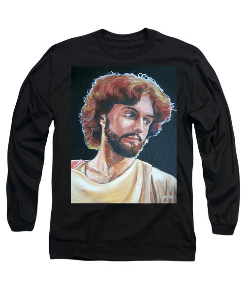 Long Sleeve T-Shirt featuring the painting Compassionate Christ by Bryan Bustard