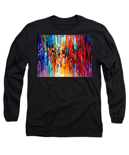 Composition # 4. Series Abstract Sunsets Long Sleeve T-Shirt by Helen Kagan