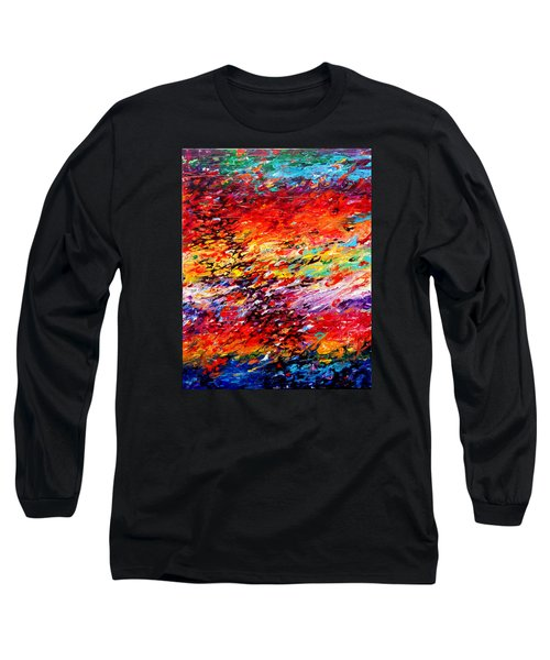 Composition # 6. Series Abstract Sunsets Long Sleeve T-Shirt by Helen Kagan