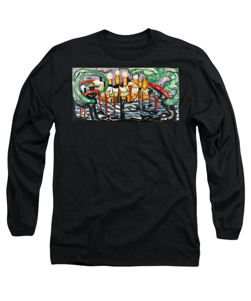 Long Sleeve T-Shirt featuring the painting Composition No.62 by Jacoba van Heemskerck