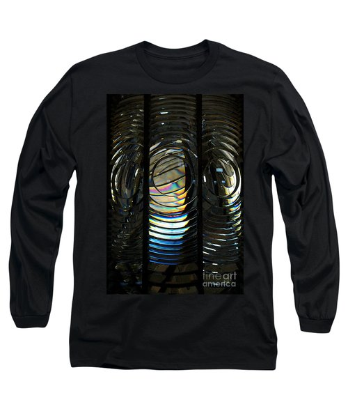 Concentric Glass Prisms - Water Color Long Sleeve T-Shirt by Linda Shafer