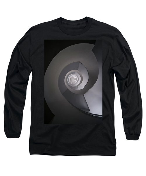 Concrete Abstract Spiral Staircase Long Sleeve T-Shirt by Jaroslaw Blaminsky